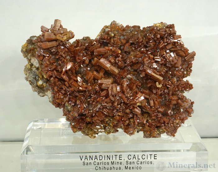 Large Lustrous Vanadinite from the San Carlos Mine, Chihuahua, Mexico, Barnett Fine Minerals