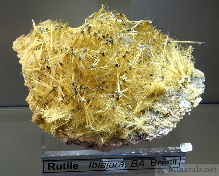 Acicular Rutile Crystals from Ibiajara, Bahia, Brazil - Miner's Lunchbox