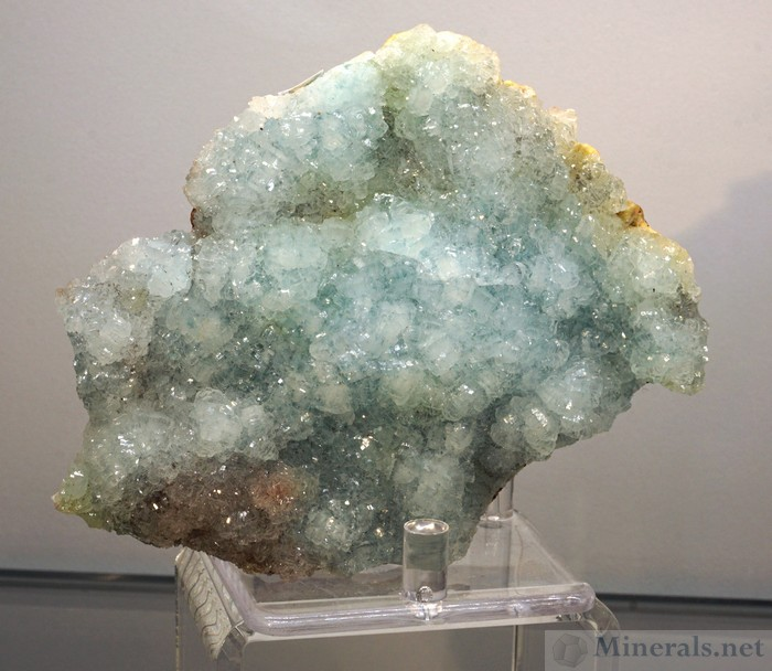 Blue Smithsonite from the M'Fouati Area in Congo - Spirifer Minerals
