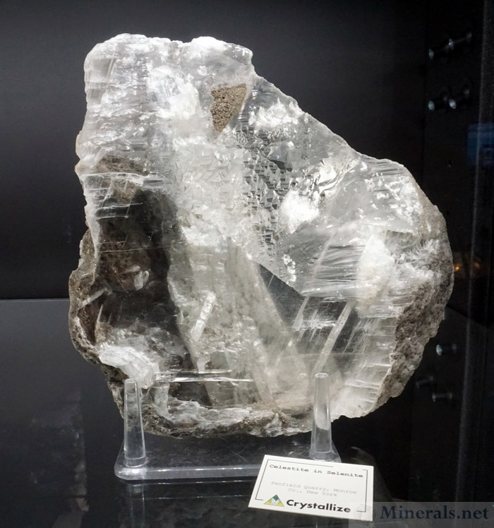 Celestine Crystal Embedded in Selenite from the Penfield Quarry, Monroe Co., NY - Crystallize