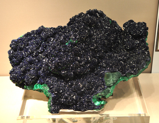 Dark Lustrous Azurite Group