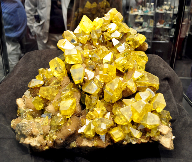 Huge Sulfur Crystals from Sicily, Italy