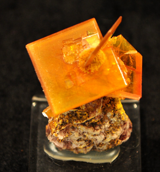 Square Tabular Wulfenite from the Rowley Mine
