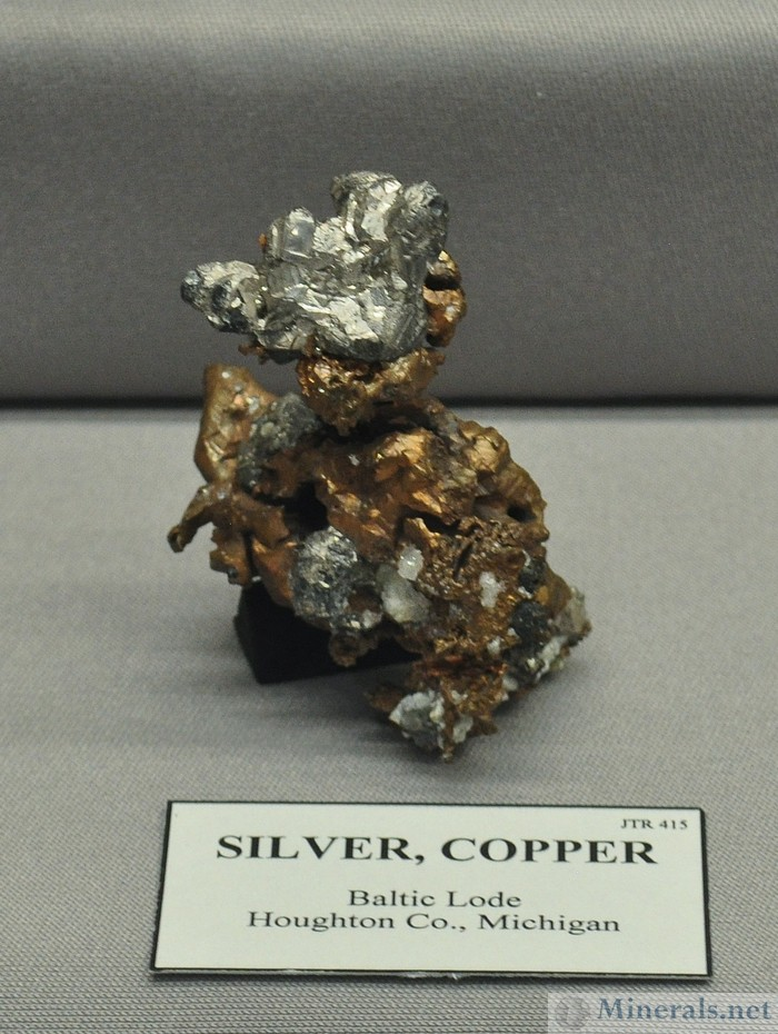 Silver Copper Halfbreed, Baltic Lode, Houghton Co., Michigan