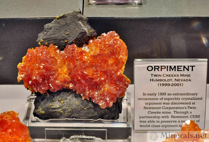 Orange Orpiment, Twin Creeks Mine, Humboldt, Nevada
