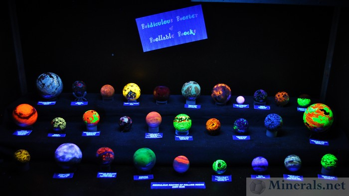 Fluorescent Mineral Spheres - Andy Muir