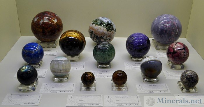 Jerry Rosenthal's Collection of Polished Spheres