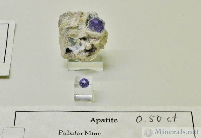Purple Apatite from Maine