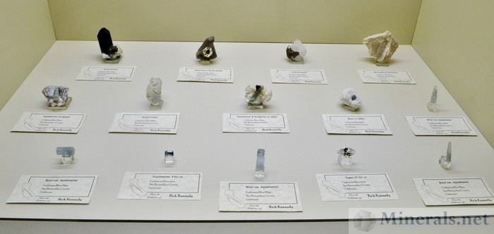 Minerals from the California Blue Mine
